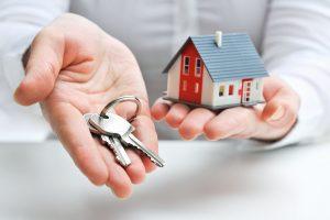 House miniature and a key