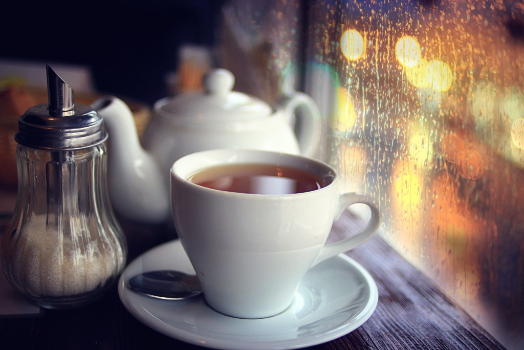 Coffee cup by the window