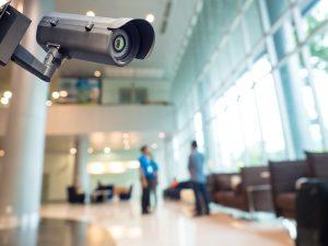CCTV camera on a mall