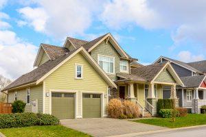 House in a suburban area