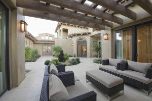 Stylish outdoor living area