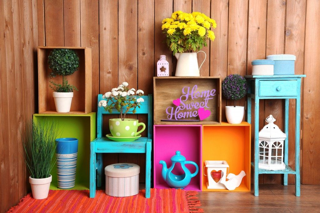 Colorful home accents