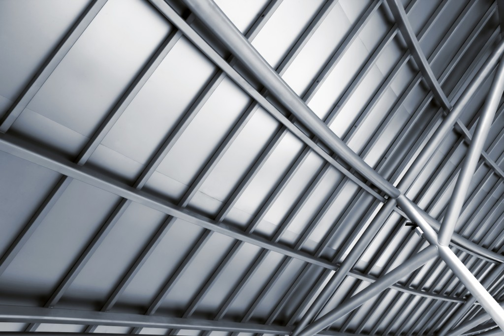 a steel roof