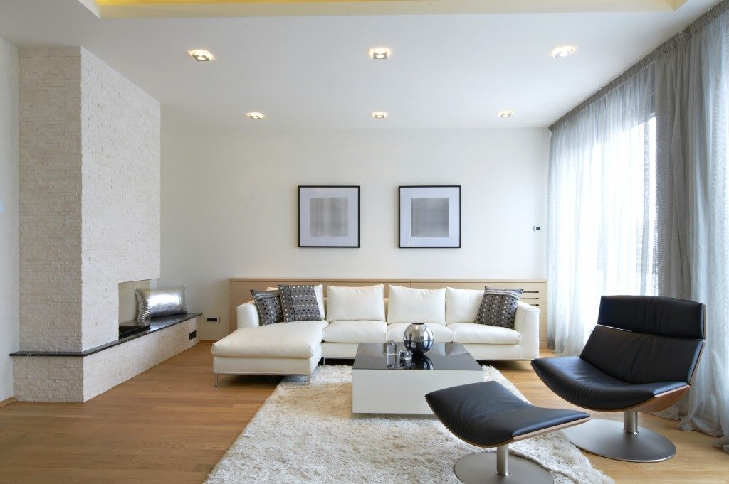 Modern and simple living room interior