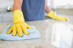 Cleaning kitchen table