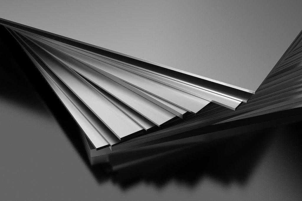 a pile of aluminum