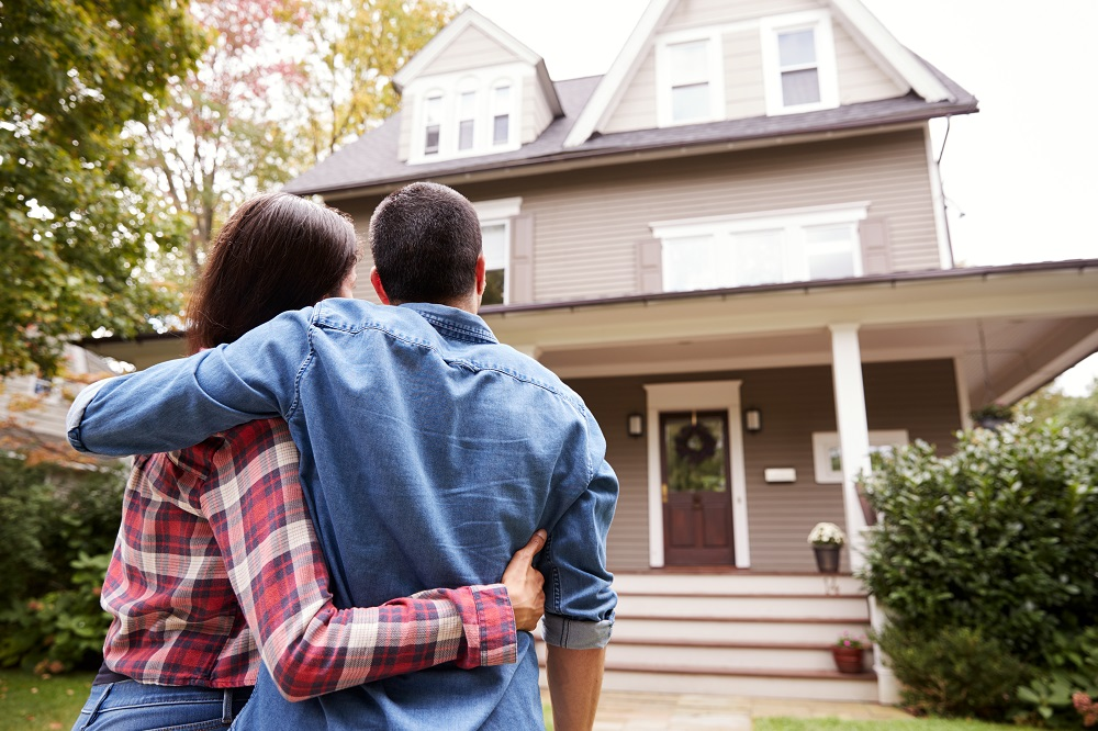 Couple happy with home