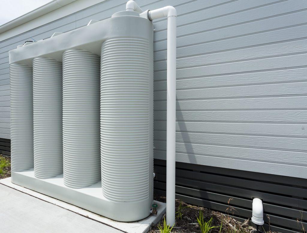 Residential rainwater tank system