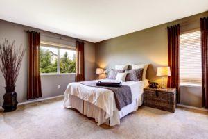 bedroom with carpet floor