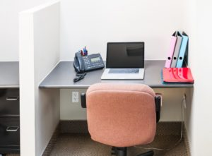 Plain cubicle workstation