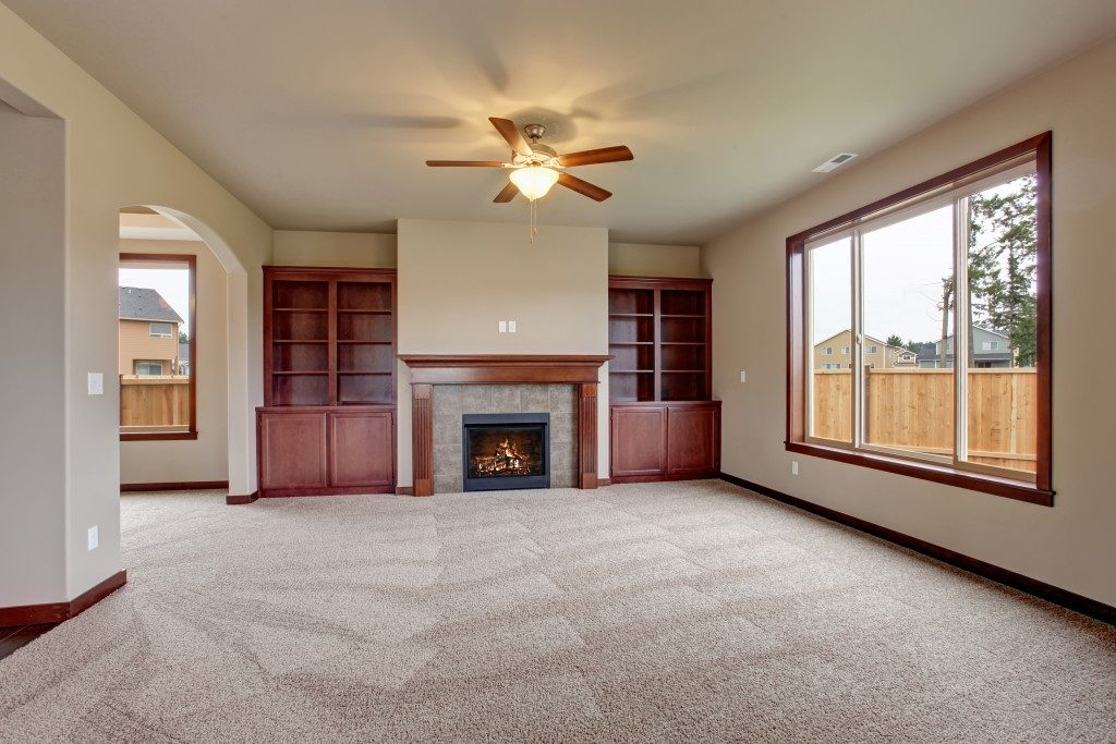 living room with carpet floor