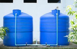 Two water storage tank