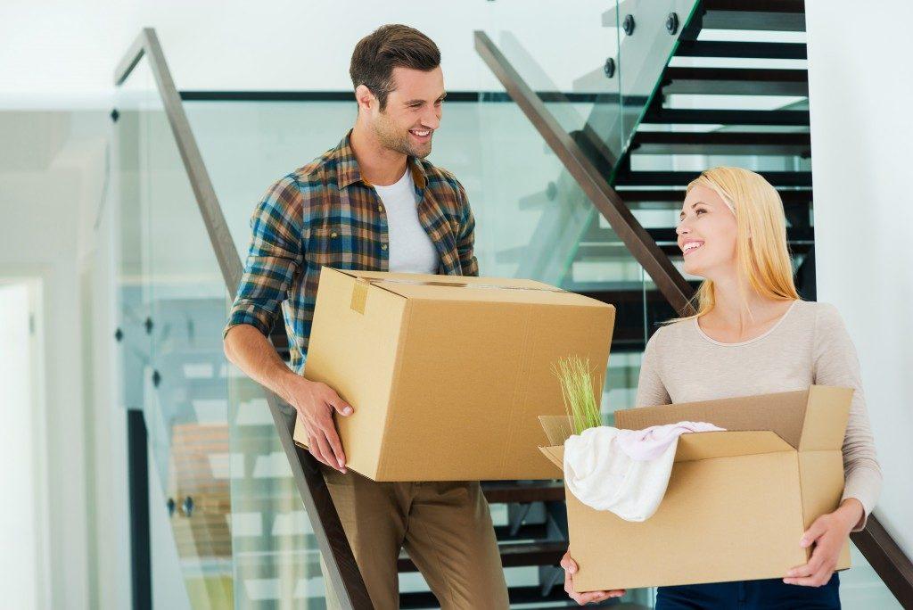 Couple preparing to move