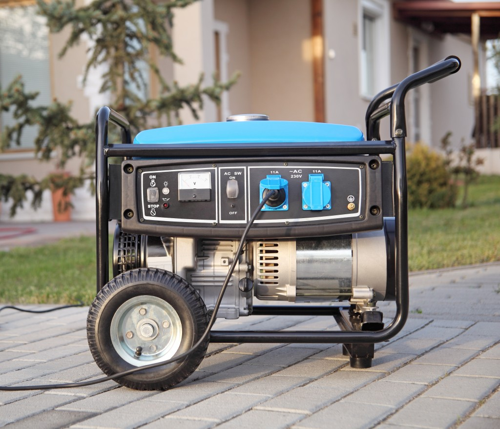generator in bule and black colors