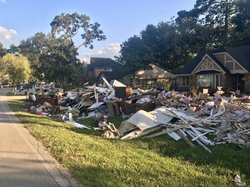 houses damaged by hurricane