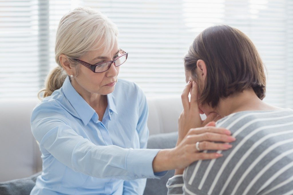 woman psychiatrist counseling another woman