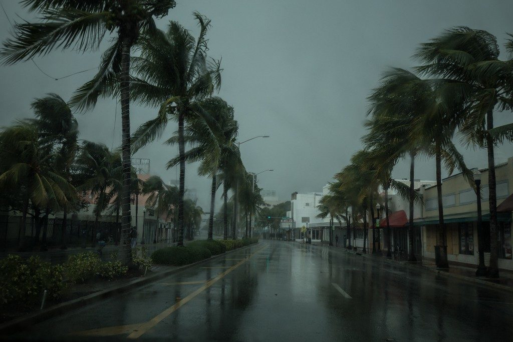 street cleared because of hurricane