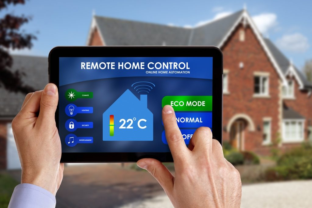 Controlling the home using an ipad