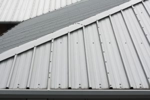 Metal roofing on a house