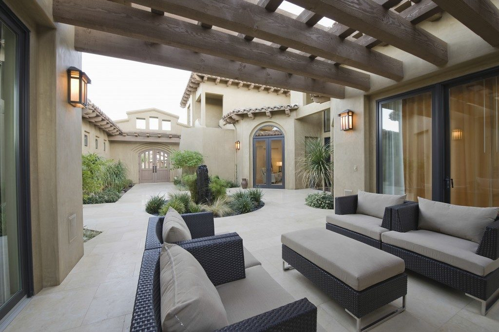 Patio in a modern home