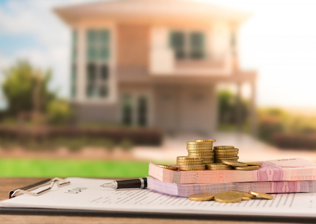 house, contract, money