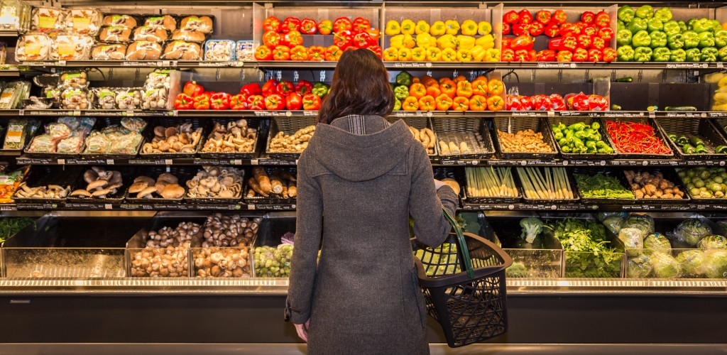 woman on a grocery