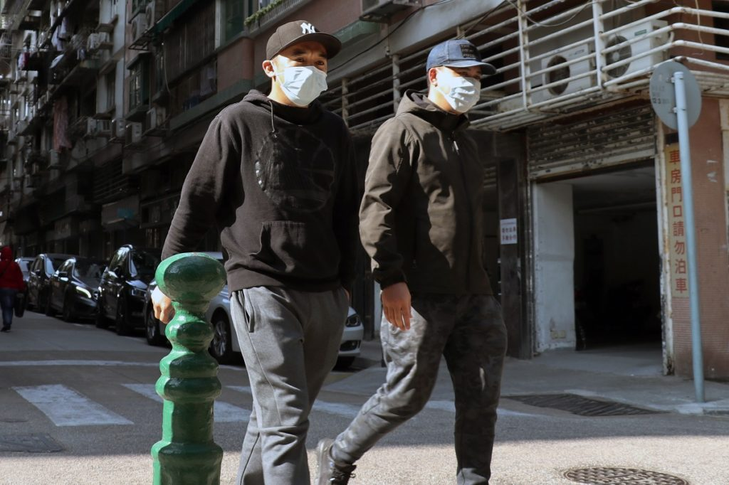 People wearing face mask